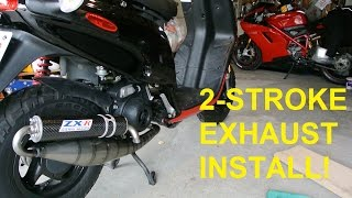 10. POWER UP! LV Exhaust Install (FASTER SCOOTER - EPISODE 7)
