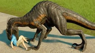 ALL CARNIVORES EATING HUMANS - Jurassic World Evolution