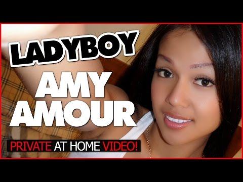 Ladyboy Amy Amour private video | Interview at home (видео)