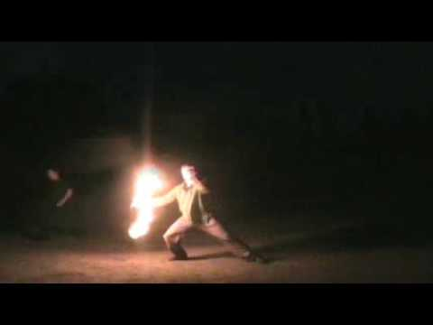 Spinning Fire Poi at Trout Lake, Vancouver BC
