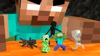 Video Monster School Life : MONSTERS BECOME TINY - Minecraft Animation MP3, 3GP, MP4, WEBM, AVI, FLV Januari 2019