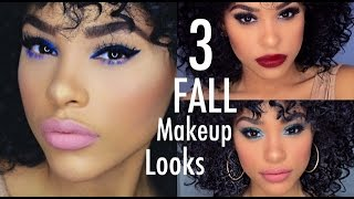 3 EASY FALL EYE MAKEUP LOOKS FOR BEGINNERS - YouTube