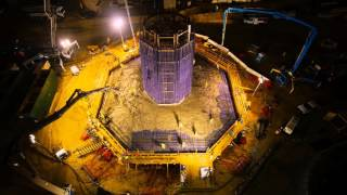 Time-Lapse: First Tower Pile Cap Concrete Placement