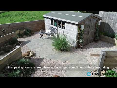 Video of 1200mm x 300mm Crosswood Cinder Porcelain Paving 58 Pieces