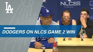 NLCS Gm2: Dodgers on offense, Game 2 win