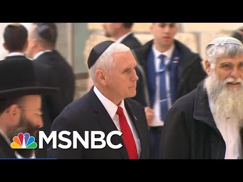 VP Mike Pence: President Donald Trump Is Committed To Peace In Middle East | Andrea Mitchell | MSNBC