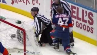 New York Islanders vs Pittsburgh Penguins Fights Brawl February 11, 2011 HD