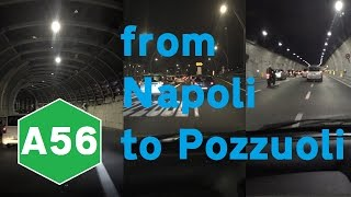 Pozzuoli Italy  city photo : Driving from Napoli to Pozzuoli (Italy) in the night