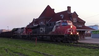 Amherst (NS) Canada  city pictures gallery : CN Stack Train 120 w/DPU at Amherst, NS (May 21, 2016)