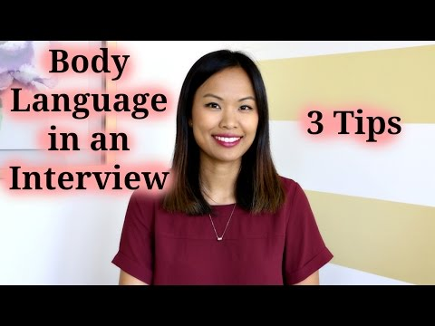 Body Language in an Interview - 3 Tips