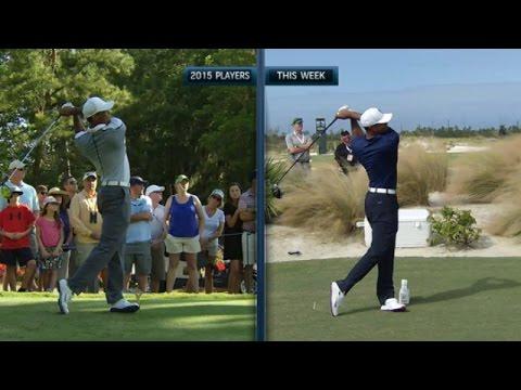Tiger Woods' slo-mo swing 2015 vs.  …