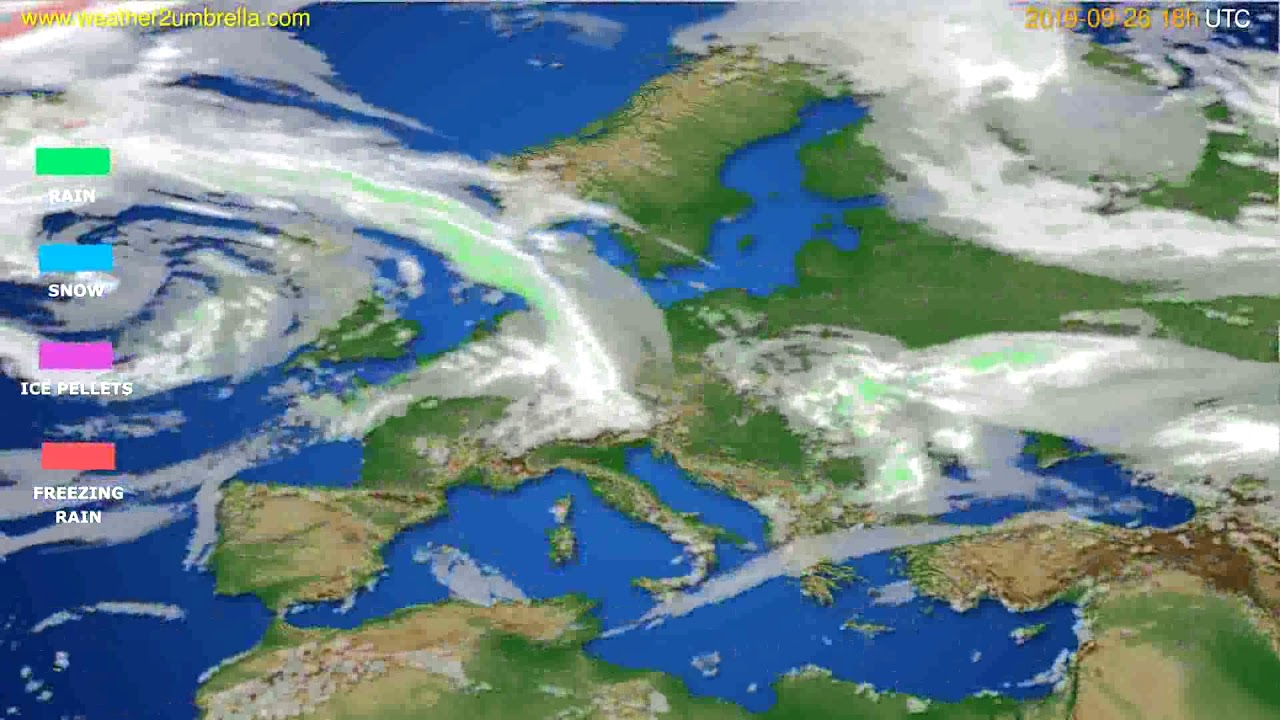 Precipitation forecast Europe // modelrun: 00h UTC 2019-09-24