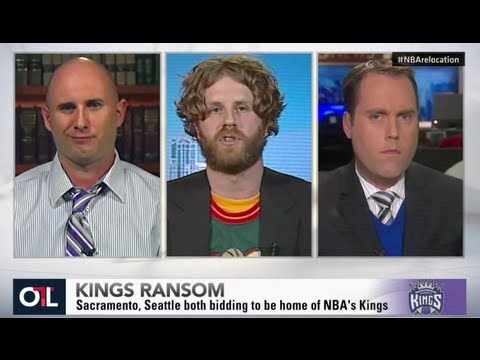 sonicsgate - http://sonicsgate.org | Sacramento Mayor Kevin Johnson, Sonicsgate Director Jason Reid, Seattle TV reporter Chris Daniels and Sacramento Royalty's Kevin Fipp...