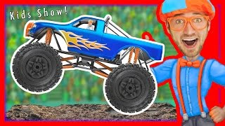 Monster Trucks For Kids With Blippi – Educational Videos For Toddlers  Learn Colors