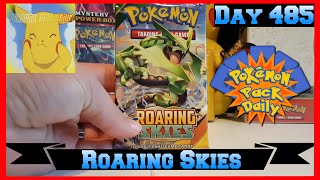 Pokemon Pack Daily Roaring Skies Booster Opening Day 485 - Featuring PikachuCollective by ThePokeCapital