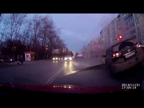 Dash cam captures road explosion