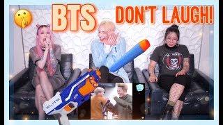 BTS (방탄소년단) TRY NOT TO LAUGH CHALLENGE   NERF GUN EDITION  