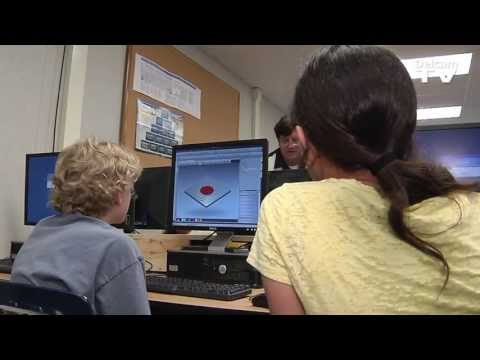 Colina Middle School Talks About Using CADCAM Software