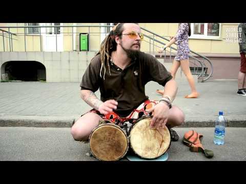 Djembe Street Performer in Minsk (HD)