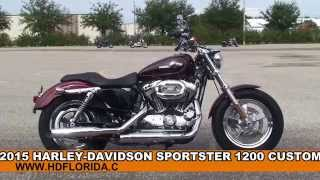 9. New 2015 Harley Davidson XL1200C Sportster 1200 Custom Motorcycles for sale