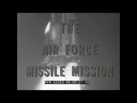 THE AIR FORCE MISSILE MISSION 1957 STRATEGIC AIR COMMAND FILM W/ JAMES STEWART 32352