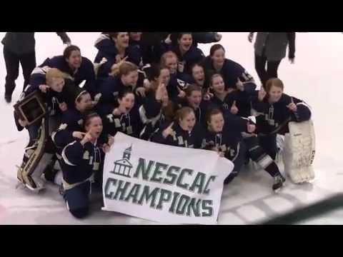 Trinity Women's Hockey: 2015 NESCAC Champions