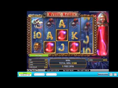 Mythic Maiden - New Online Pokie Machine - Retrigger in Free Feature - Great Video Slots