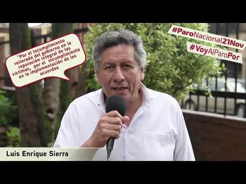 Luis Enrique Sierra va al #ParoNacional21N