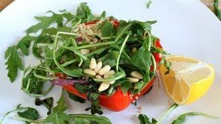 Salade van geroosterde groenten en quinoa
