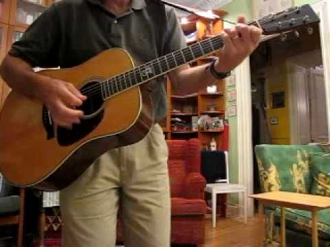"""How to play """"Time after Time"""" on guitar (acoustic working version)"""