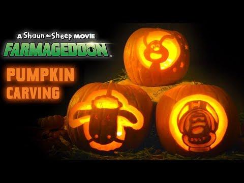 How to carve a Lu-la Pumpkin - Halloween Craft - Shaun the Sheep Movie: Farmageddon