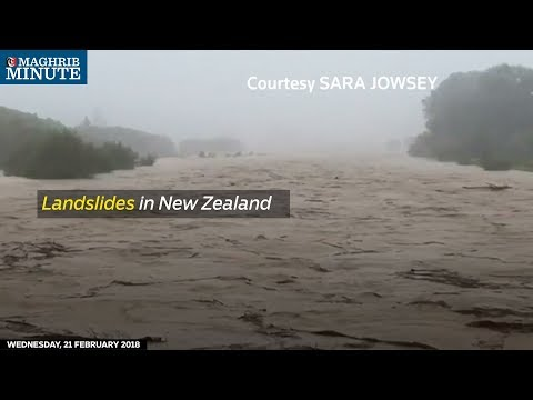 At least 5,000 people in New Zealand's South Island were cut off by massive landslips