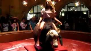 Download Video This is how a mechanical bull should be ridden! MP3 3GP MP4