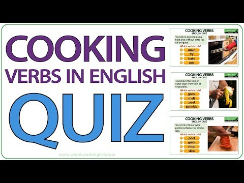 Cooking Verbs - English Quiz