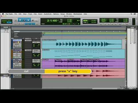 Pro Tools 11 tutorial: Editing and arranging clips | lynda.com