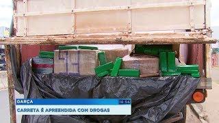 Motorista de carreta é preso com quase 200 kg de maconha em Garça