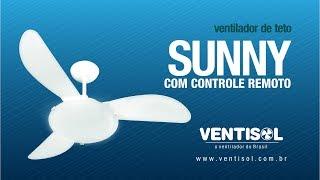 Ventilador de Teto Sunny com Controle Remoto
