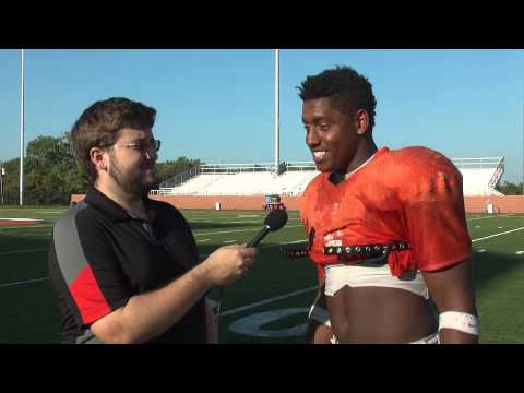 C-N Football: William Alderman post-scrimmage interview 8-27-14