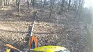 7. 2009 KTM 250 XC-F - Woods practice - Gopro Hero 2 with Olympus external microphone