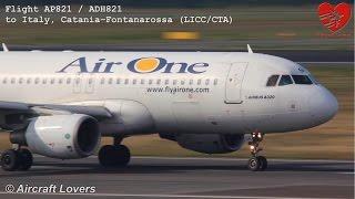 Air One Airbus A320200 EIDSR Takeoff  Germany BerlinTegel 19.09.14