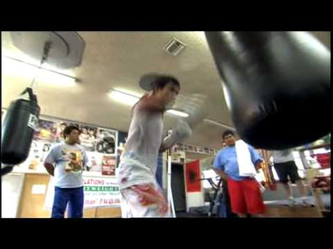 Manny Pacquiao  l'entranement 