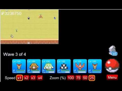Pokemon Tower Defense - Tutorial - How to Beat the Elite Four - PTD 0.9