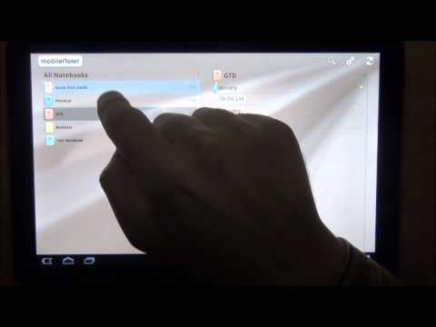 Video of MobileNoter SE HD for Tablet