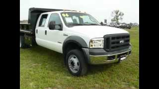 Used Dump Truck For Sale Maryland Ford Dealer F550 Powerstorke V8 Diesel