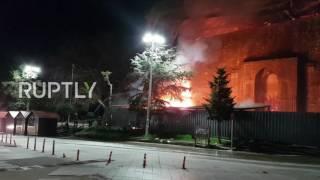 اليونان: حريق في أحد أقدم المساجد في أوروبا
