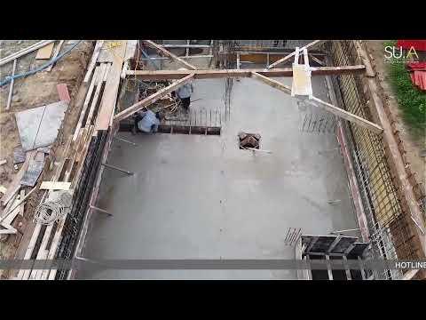 Quy trình đổ bê tông móng, hầm dự án Mystery Quận 2