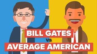 Video Bill Gates vs the Average American - How Do They Compare - Celebrity Comparison MP3, 3GP, MP4, WEBM, AVI, FLV Juni 2018