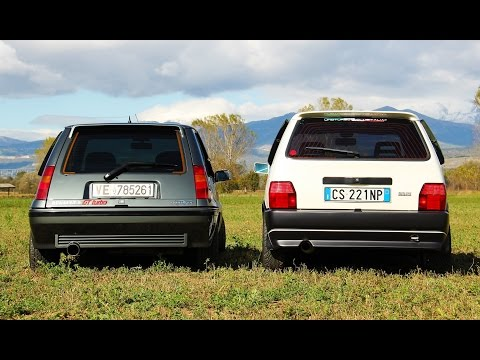 renault 5 gt turbo vs fiat uno turbo