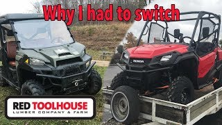 9. Why we had to switch from Polaris Ranger to Honda Pioneer