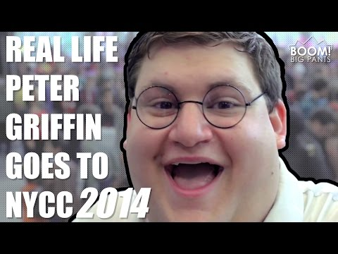 Real Life Peter Griffin Goes To NYCC 2014   BOOM! Big Pants